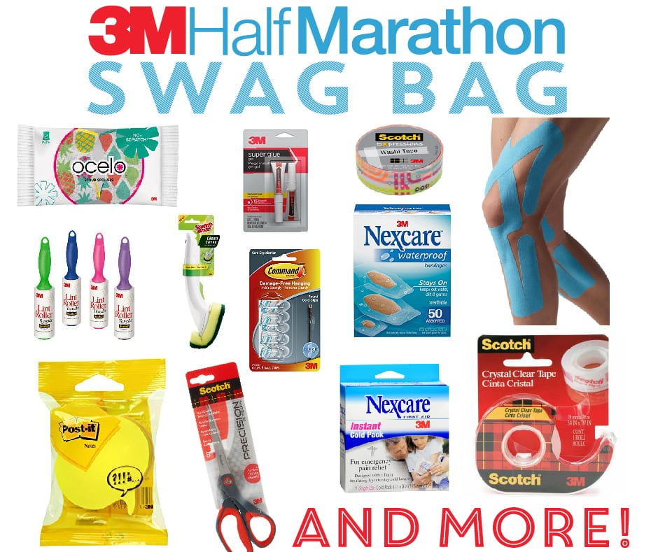 austin weather is nothing when you have the 3M Half marathon swag bag