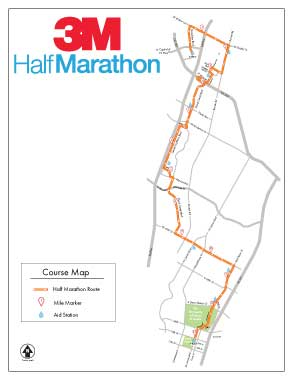 3M Half Marathon course description