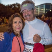 Two participants of the 3M Half Marathon