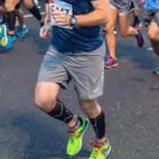 Texas runners running downhill in 3M Half marathon